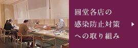 圓堂各店の営業時間と感染防止対策について